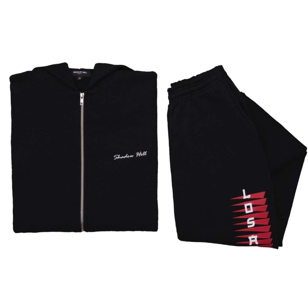 BLACK LOS ANGELES SWEATSUIT