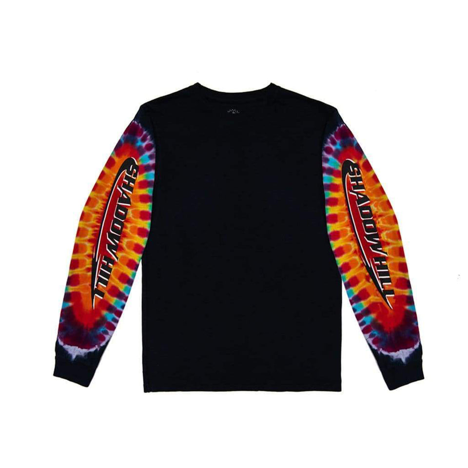BLACK TIE DYE TROPHY LONG SLEEVE