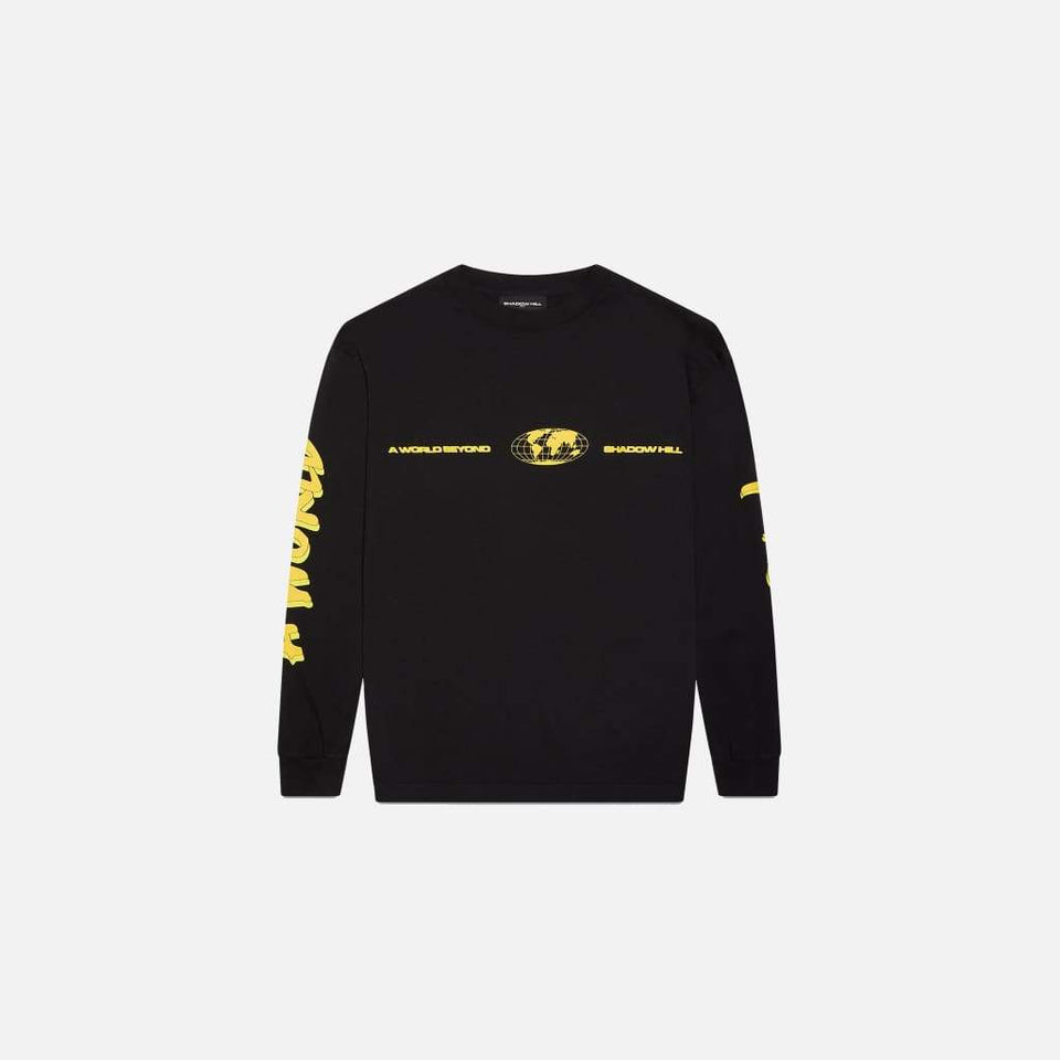 BLACK WARNING LONG SLEEVE