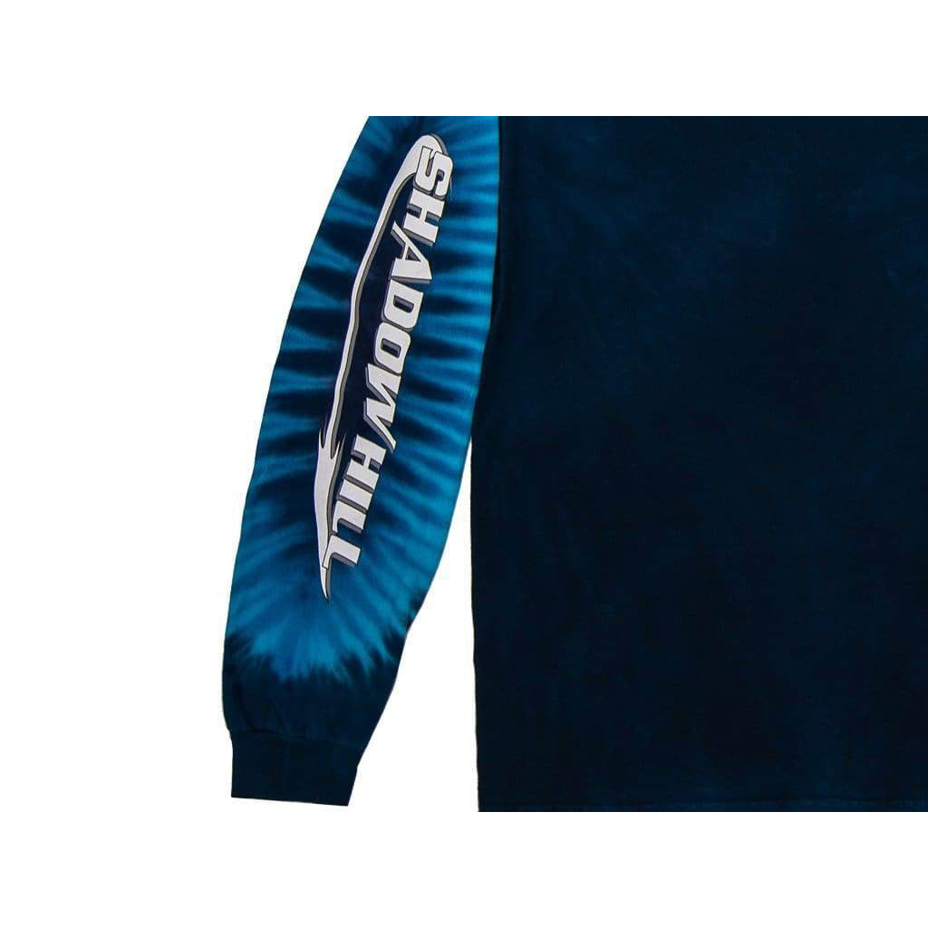 BLUE TIE DYE TROPHY LONG SLEEVE