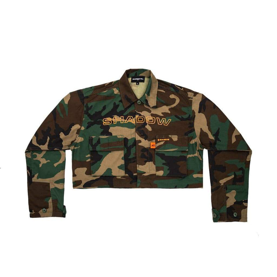 CAMOUFLAGE TACTICAL CROPPED JACKET