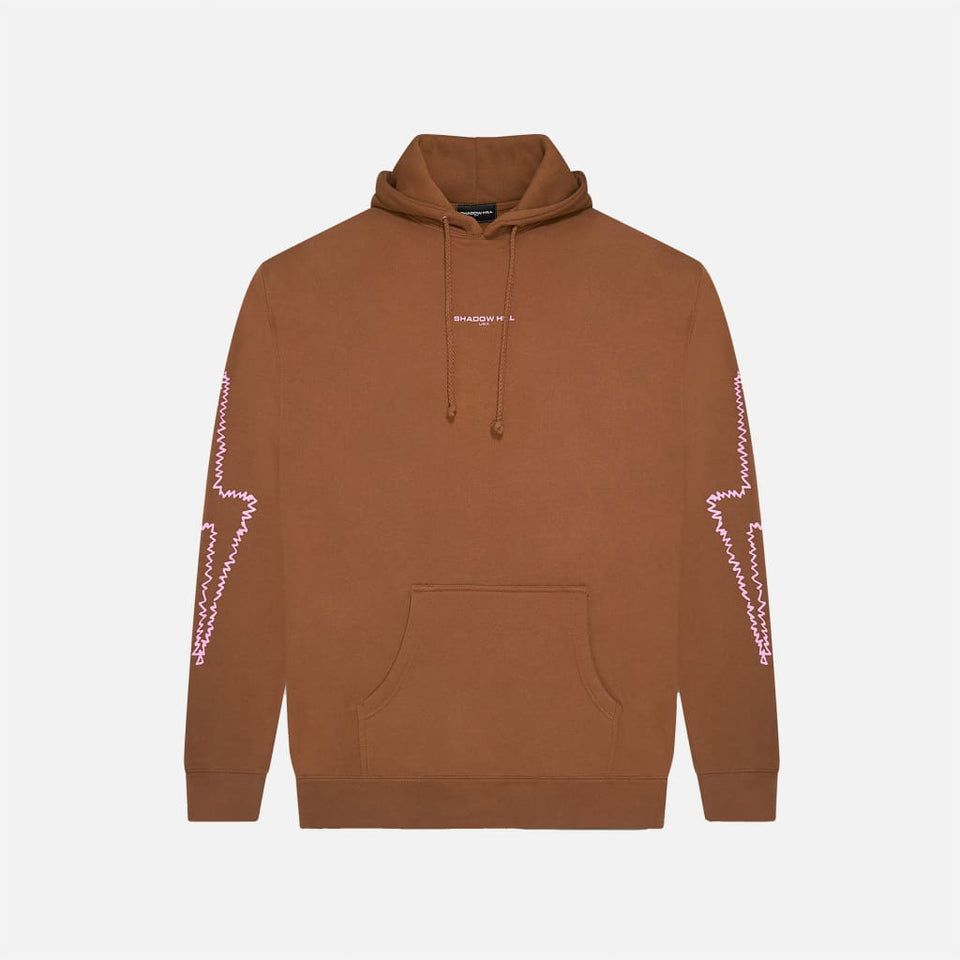 COFFEE PINK RIPPLE FLASH HOODIE