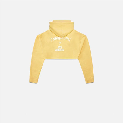 Cropped Peach Oversized Merch Hoodie