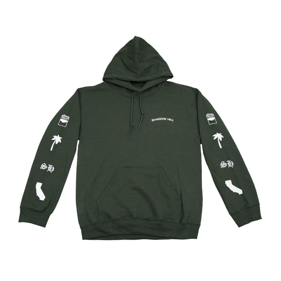 FOREST GREEN OVERSIZED MERCH HOODIE V2