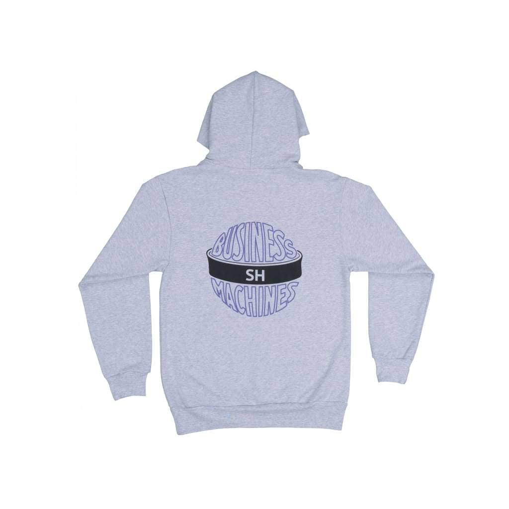 GREY BUSINESS MACHINES HOODIE