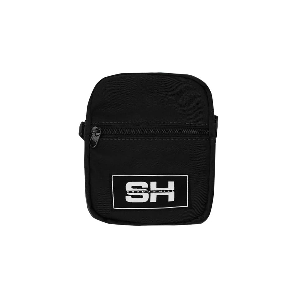JET BLACK SHOULDER BAG