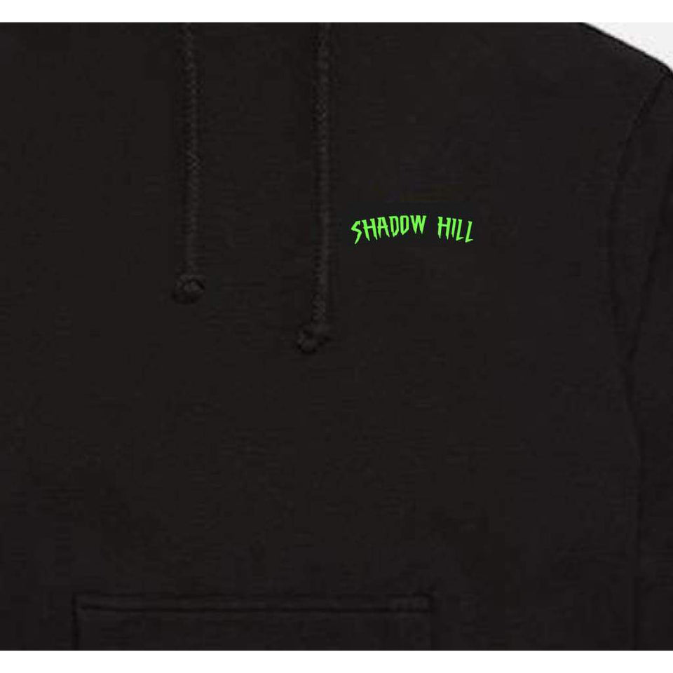NEON GREEN PUFF PRINT OVERSIZED MERCH HOODIE
