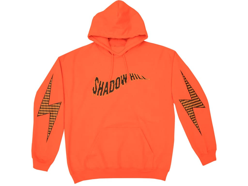 ORANGE DIAMOND CUT FLASH HOODIE