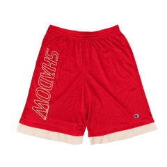 RED ALL DAY MESH THERMAL SHORTS