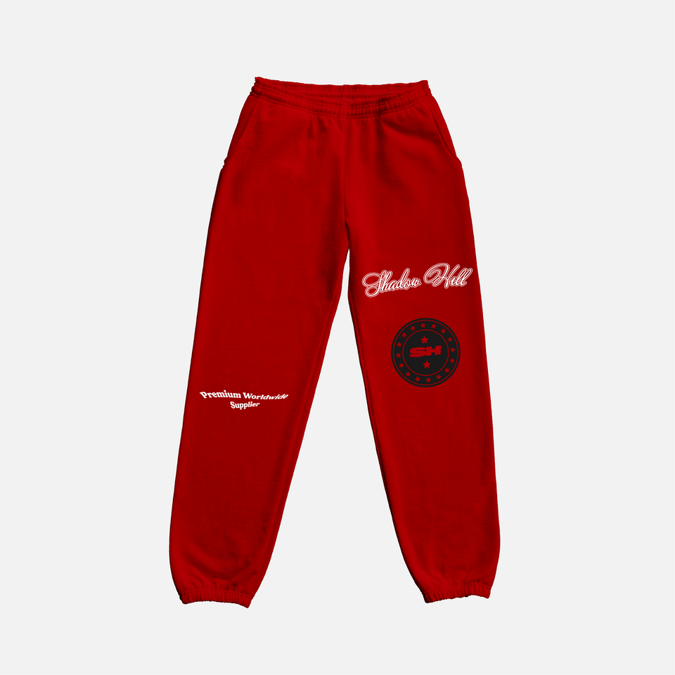 RED PREMIUM SUPPLY SWEATPANTS
