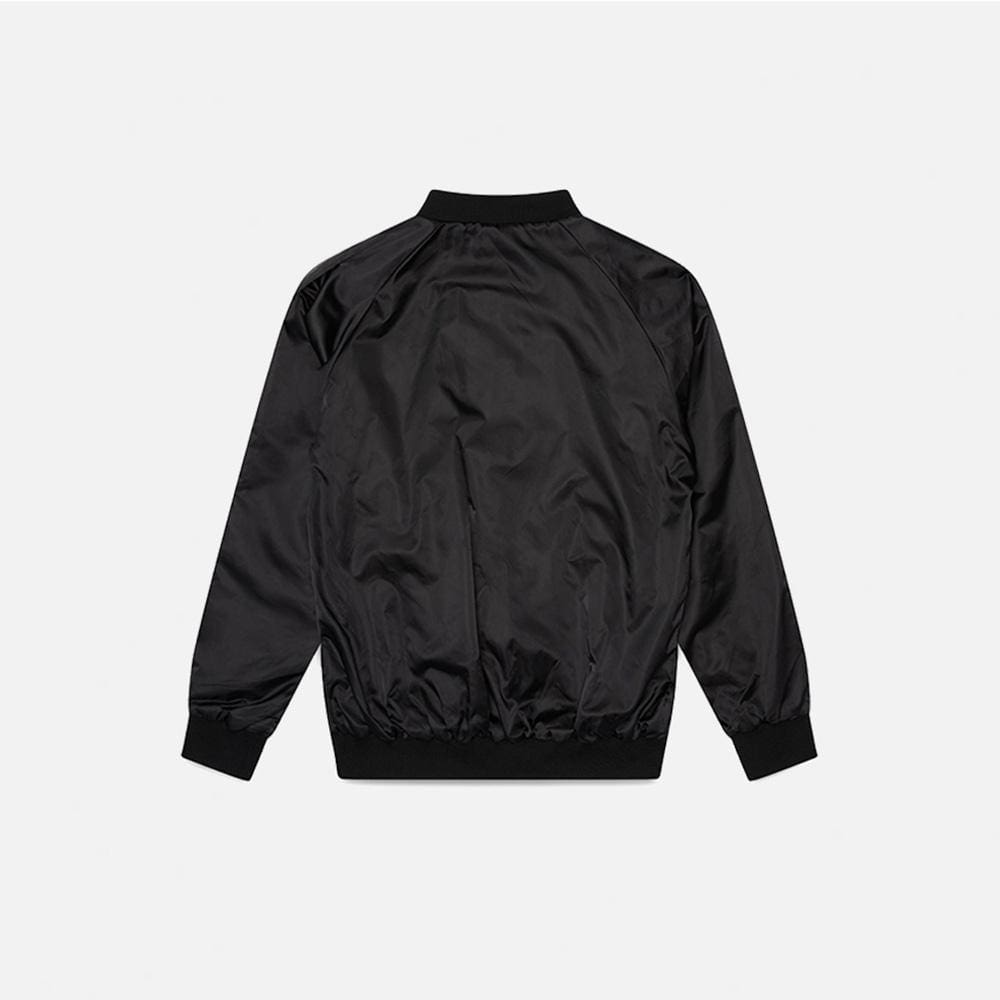 SATIN THERMAL BOMBER JACKET