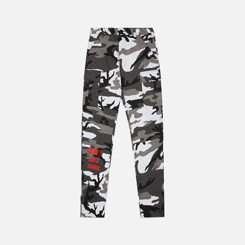 WHITE CAMO TACTICAL PANTS