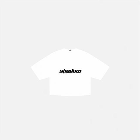 WHITE SHADOW CROP T-SHIRT