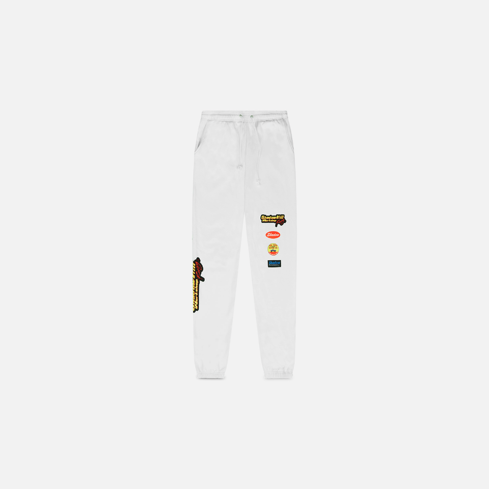 WHITE WORKSHOP SWEATPANTS