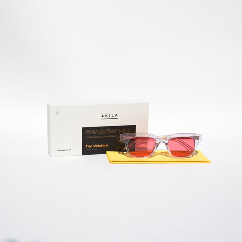 Wilshire Sunglasses (transparent + red frame) OS