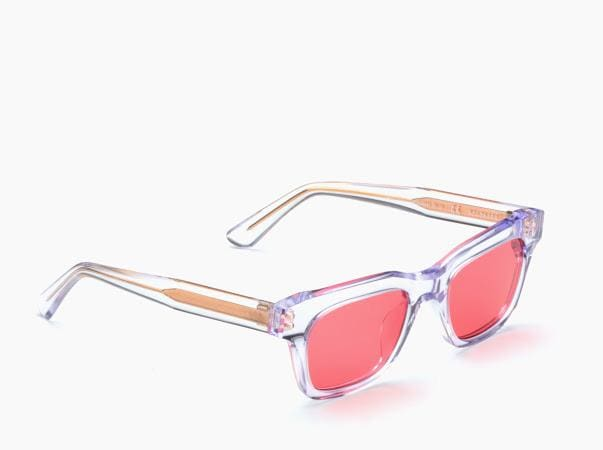 Wilshire Sunglasses (transparent + red lens) OS