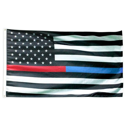 The Red and Blue Line American Flag 3X5 Ft Nylon