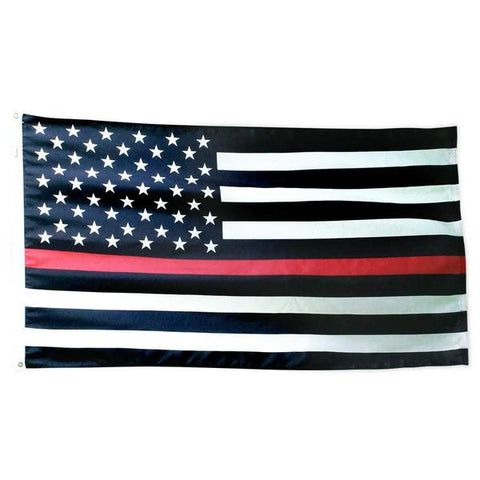 The Thin Red Line American Flag 3x5 Ft Nylon