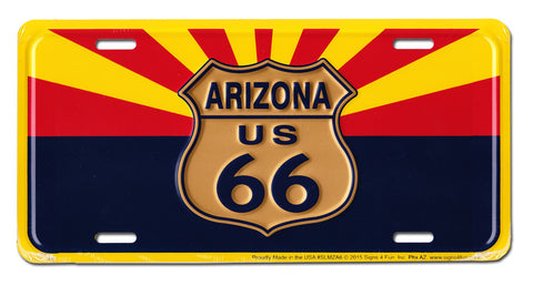 Arizona License Plate (Route 66)