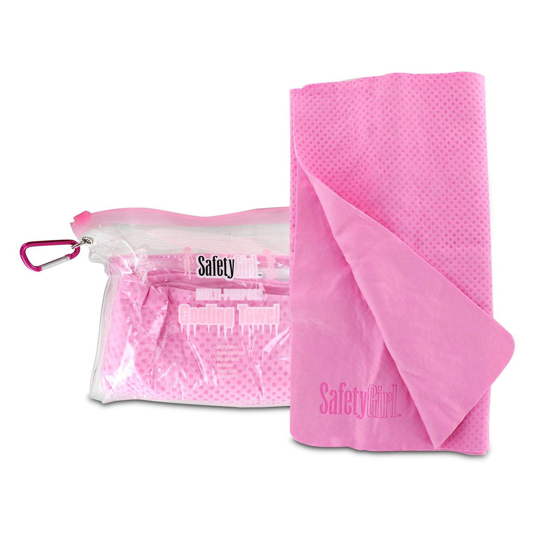 Cooling Towel - Pink Color With Carrying Case