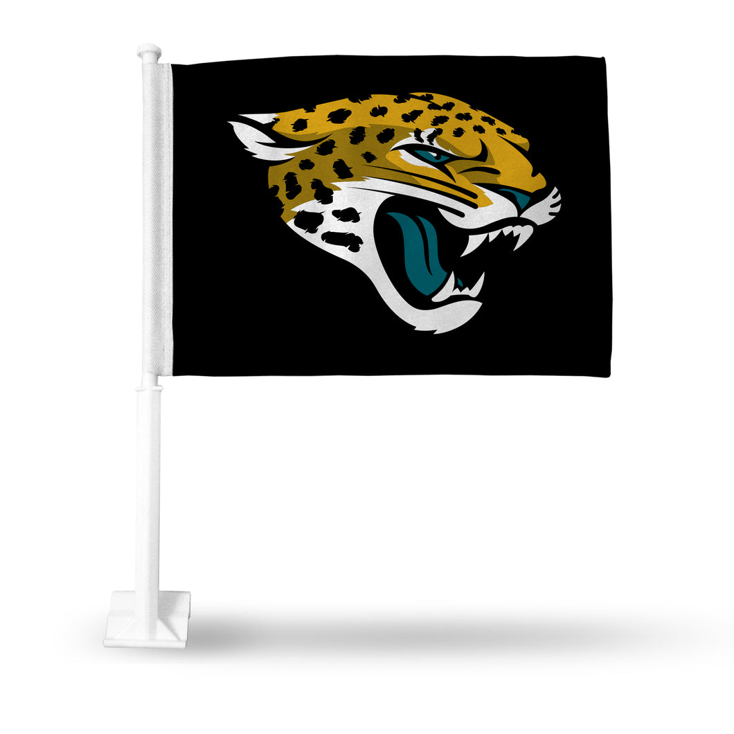 JAGUARS BLACK CAR FLAG