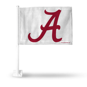 "ALABAMA ""A LOGO"" WHITE BKGRND CAR FLAG"