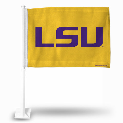 "LSU ""LSU LOGO"" CAR FLAG (YELLOW)"