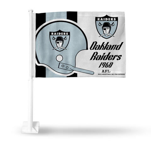 RAIDERS RETRO LOGO HELMET CAR FLAG