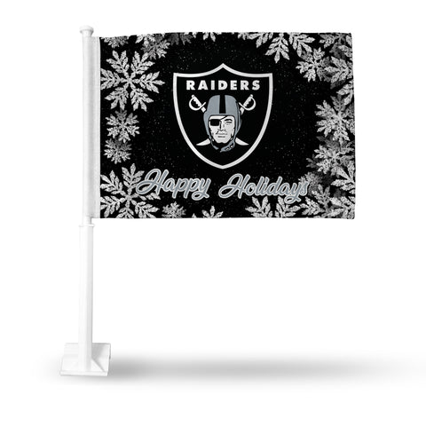 RAIDERS HOLIDAY THEMED CAR FLAG