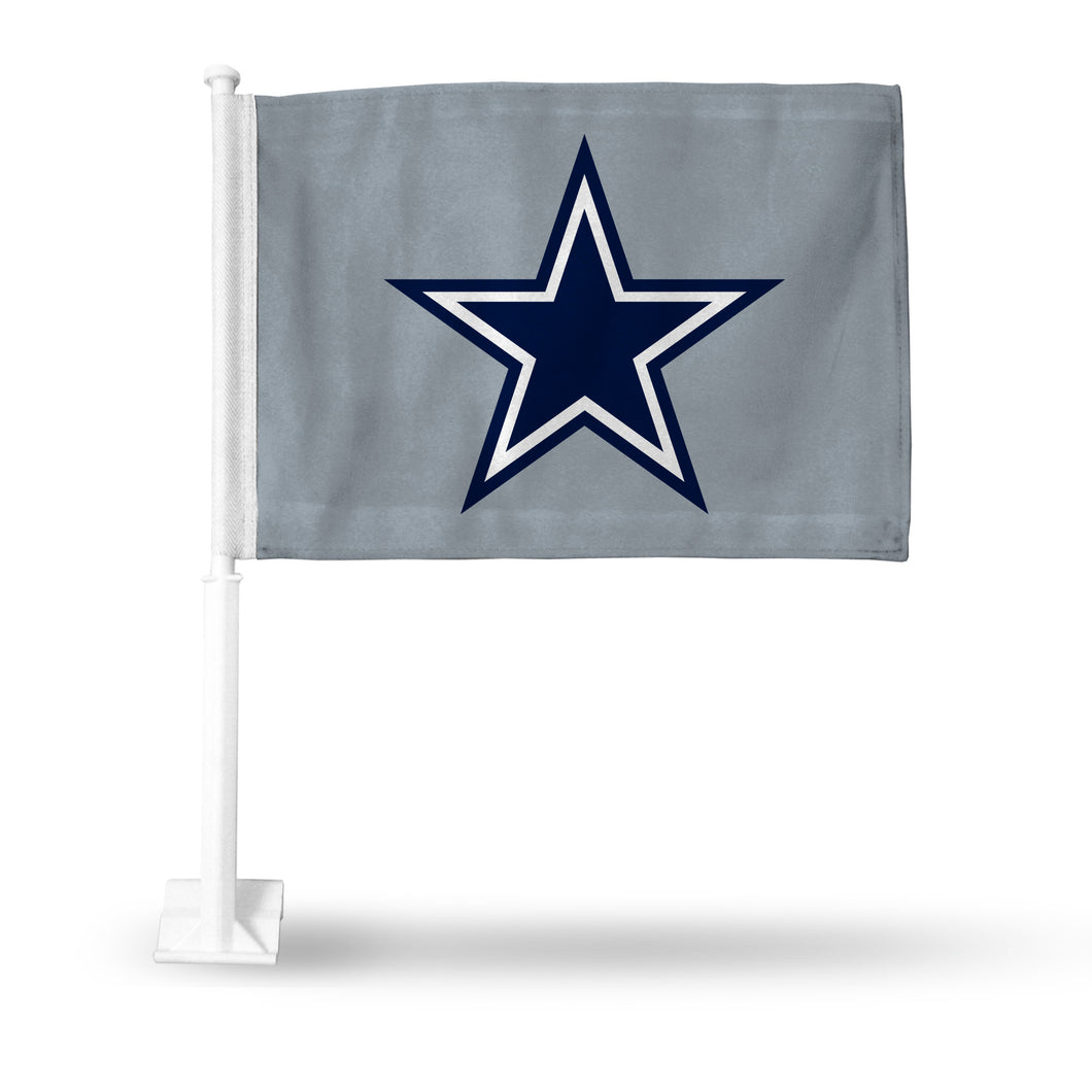 DALLAS COWBOYS GREY CAR FLAG W/STAR
