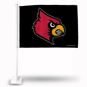 LOUISVILLE BLACK PRIMARY LOGO CAR FLAG