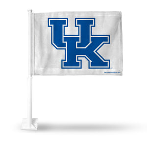 UNIVERSITY OF KENTUCKY WILDCATS WHITE CAR FLAG WITH PRIMARY LOGO CAR FLAG
