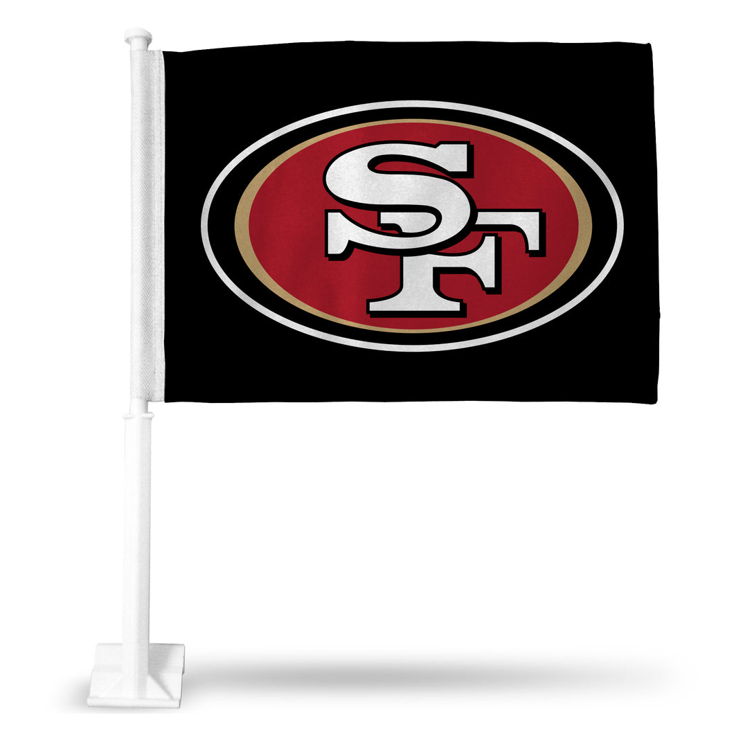 49'ERS LOGO ON BLACK CAR FLAG
