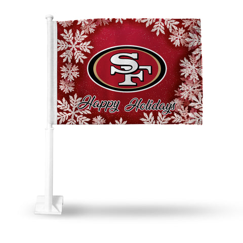 49ERS HOLIDAY THEMED CAR FLAG