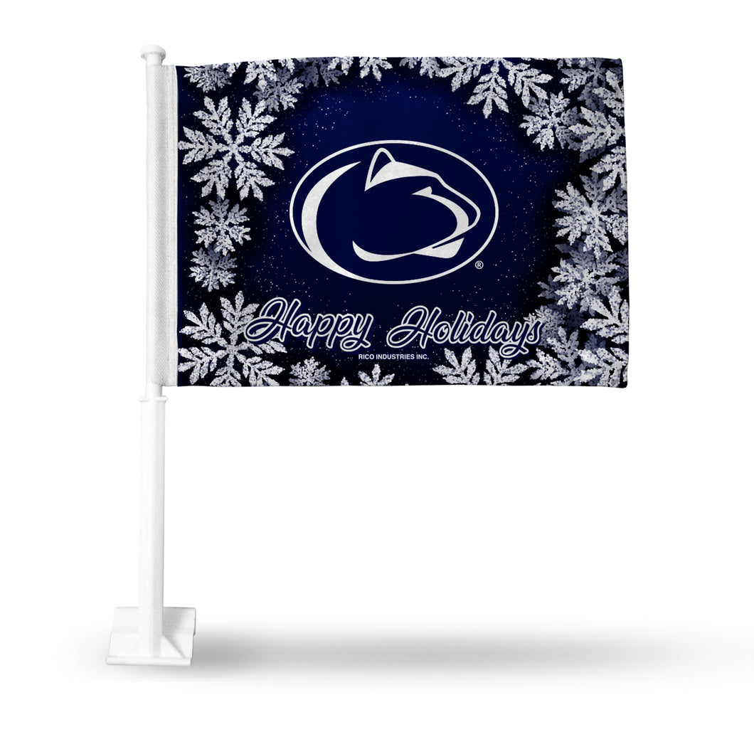 PENN STATE HOLIDAY THEMED CAR FLAG