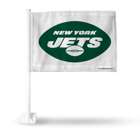 NY JETS WHITE CAR FLAG
