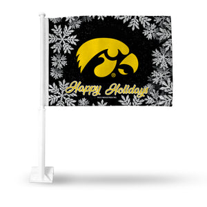 IOWA UNIVERSITY HOLIDAY THEMED CAR FLAG