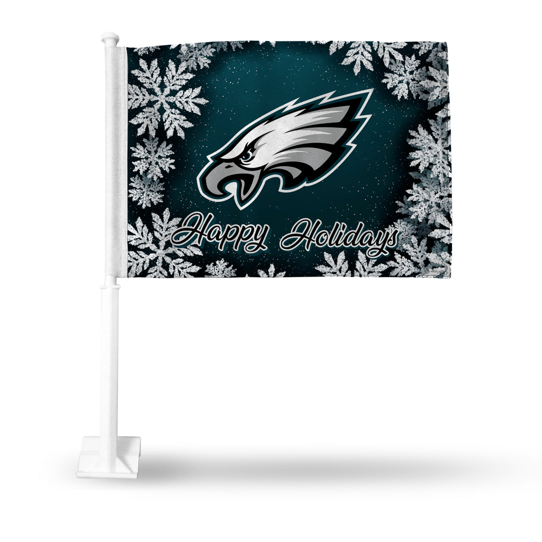 EAGLES HOLIDAY THEMED CAR FLAG