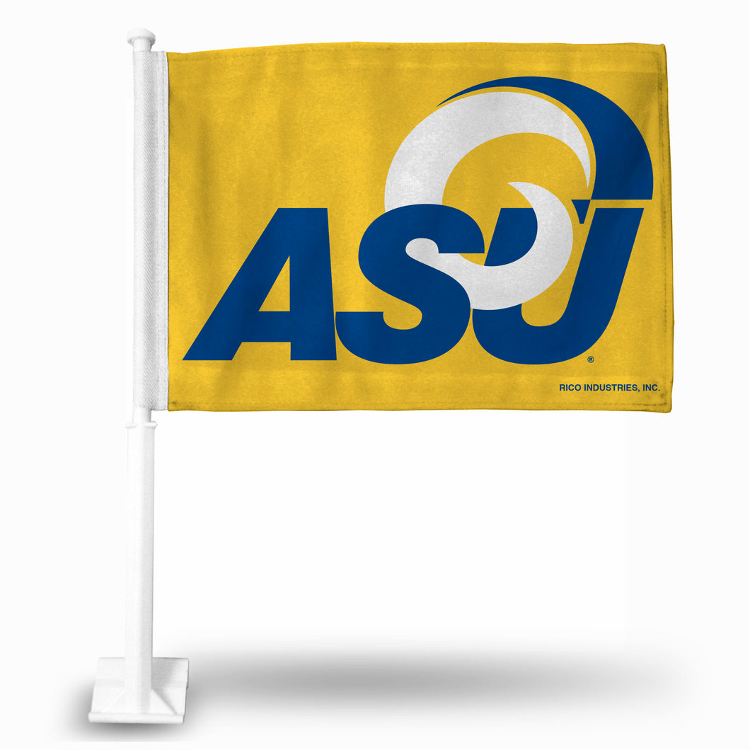ANGELO STATE FG CAR FLAG (WHITE POLE)