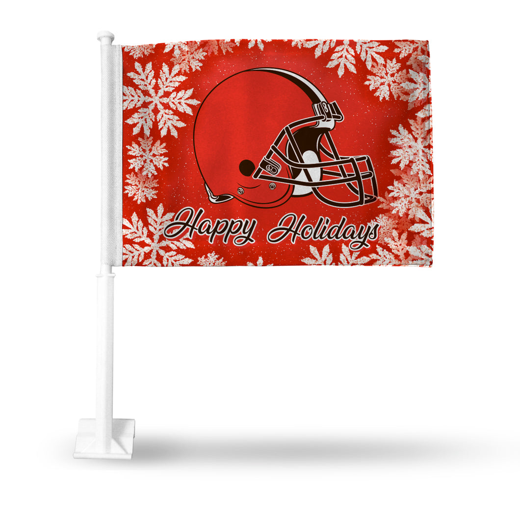 BROWNS HOLIDAY THEMED CAR FLAG