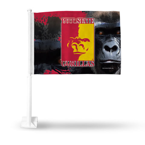 PITTSBURG STATE CAR FLAG BLACK BKG