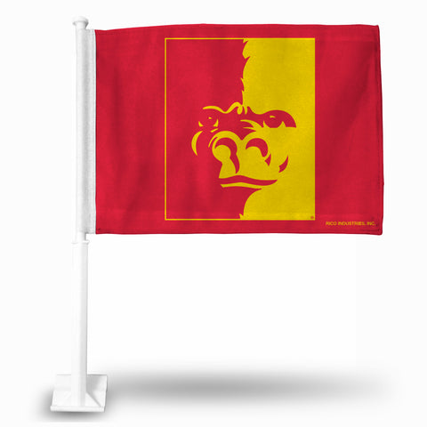 PITTSBURG STATE CAR FLAG  RED BKG