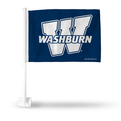 WASHBURN BLUE WITH WHITE W AND WORDMARK CAR FLAG