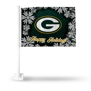 PACKERS HOLIDAY THEMED CAR FLAG