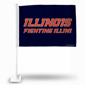 ILLINOIS CAR FLAG