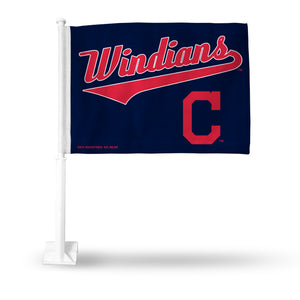 "INDIANS ""WINDIANS"" CAR FLAG"