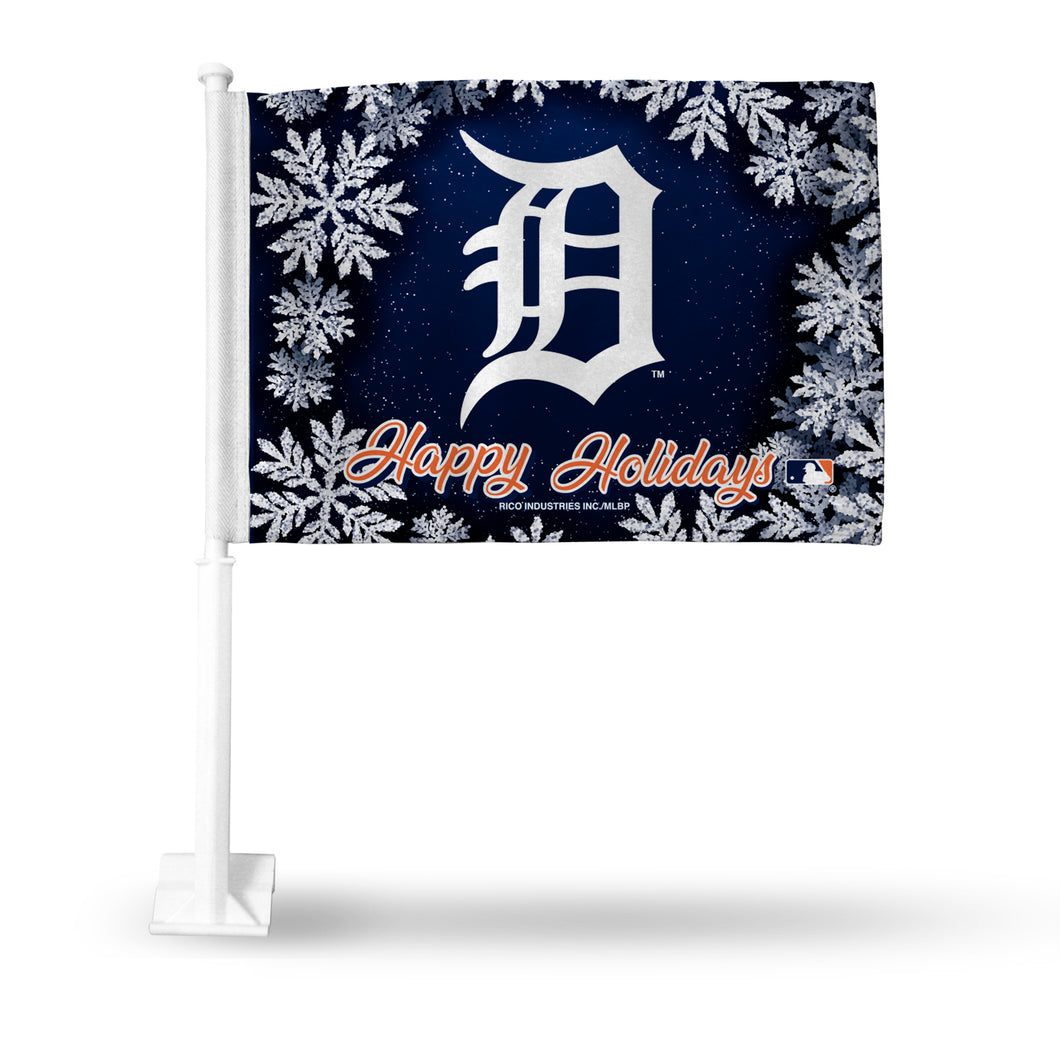 TIGERS HOLIDAY THEMED CAR FLAG