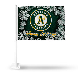 ATHLETICS HOLIDAY THEMED CAR FLAG
