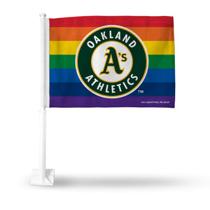 ATHLETICS PRIDE CAR FLAG