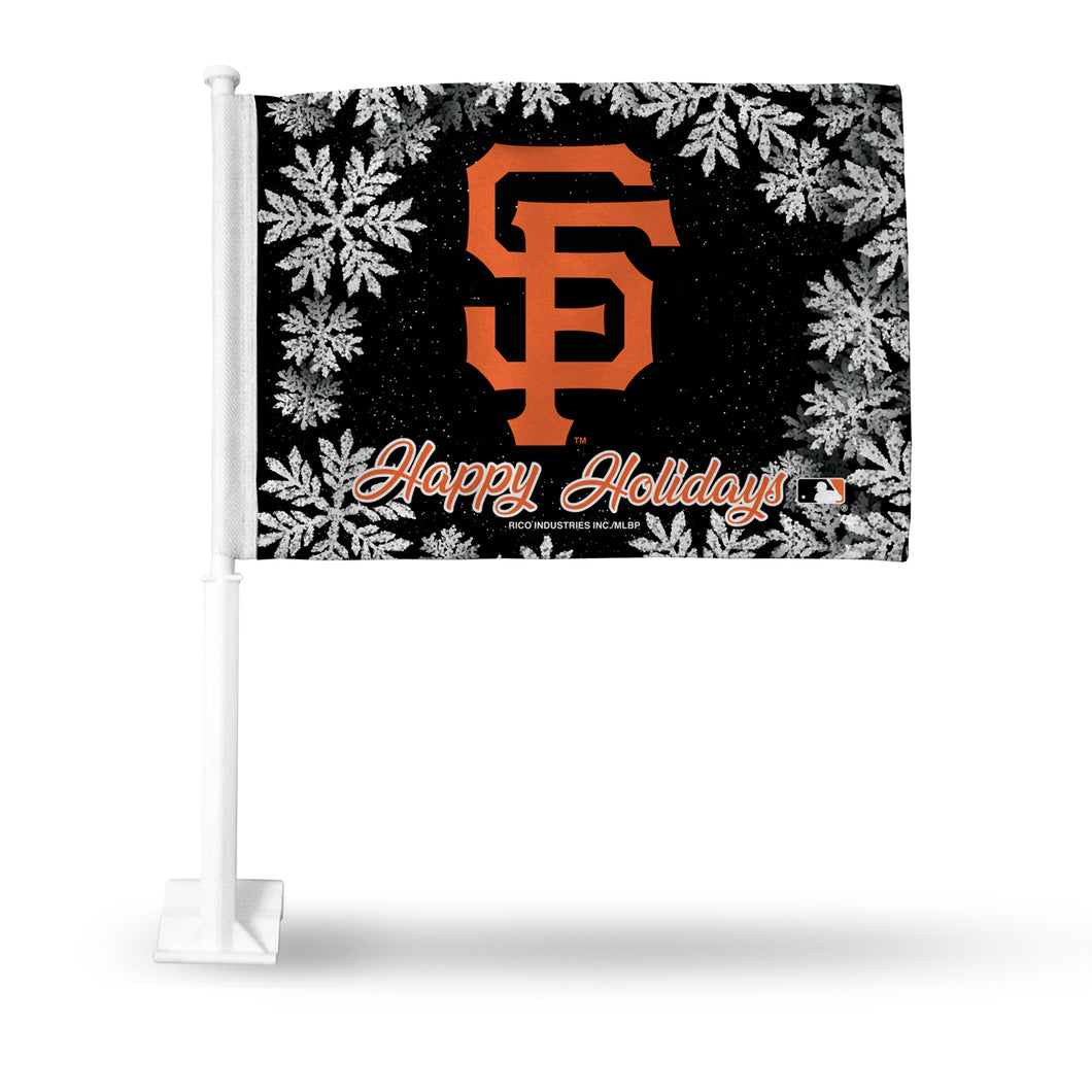 GIANTS - SF HOLIDAY THEMED CAR FLAG